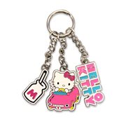 Hello Kitty in the Car Metal Multi-Charm Key Chain