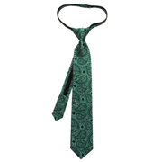 Star Wars Yoda Paisley Boys Zipper Silk Tie