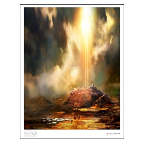 Star Wars Jedha's Doom by Cliff Cramp Paper Giclee Art Print
