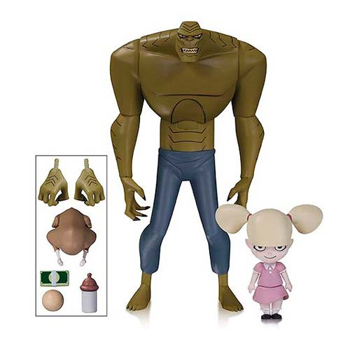 Batman The Animated Series New Batman Adventures Killer Croc and Baby Doll Figures