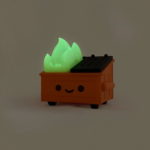 Dumpster Fire Magic Pumpkin Glow-in-the-Dark Vinyl Figure - Entertainment Earth Exclusive