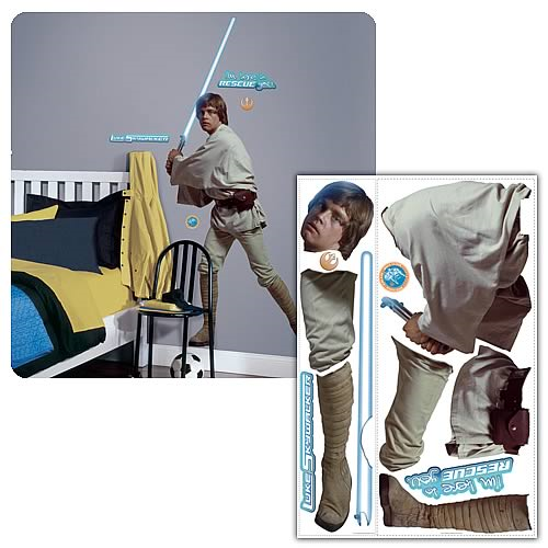 Star Wars Classic Luke Skywalker Peel & Stick Giant Applique