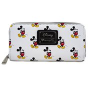Mickey Mouse White Print Wallet