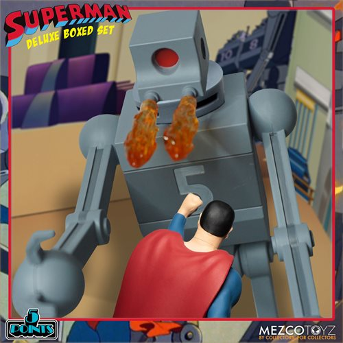 Superman (1941): The Mechanical Monsters 5 Points Deluxe Boxed Set