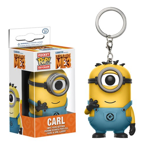 Despicable Me 3 Carl in Minion Jumpsuit Pocket Pop! Key Chain