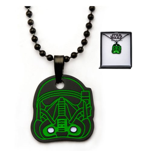 Star Wars Death Trooper Glow-in-the-Dark Black Necklace