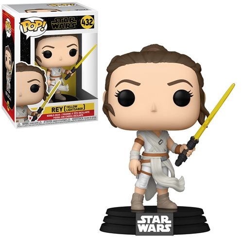 Star Wars: The Rise of Skywalker Rey with Yellow Saber Pop! Vinyl Figure