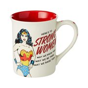 DC Comics Wonder Woman Strong Women 16 oz. Mug