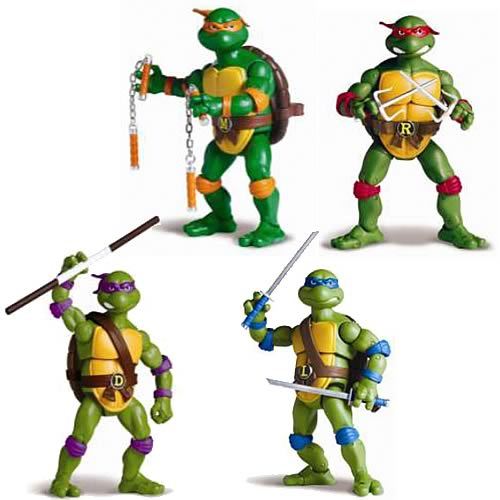 Teenage Mutant Ninja Turtles Classic Figures Wave 1 Set