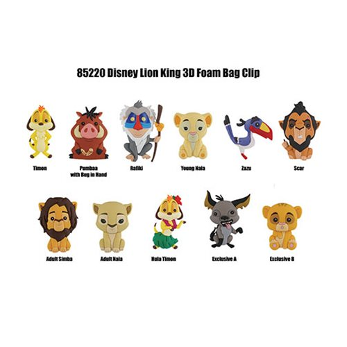 Lion King Figural Key Chain Display Case