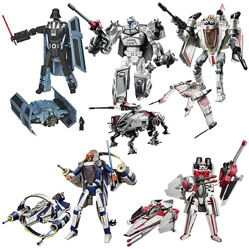 Star Wars Clone Wars Transformers Wave 3
