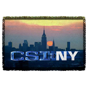 CSI: New York City Logo Woven Tapestry Throw Blanket