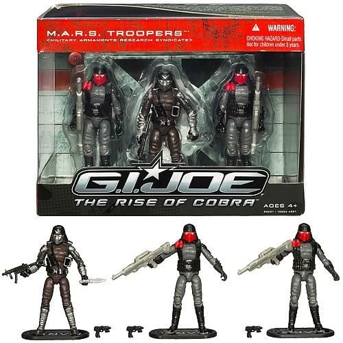 G.I. Joe Movie Rise of Cobra MARS Troopers Action Figure Set