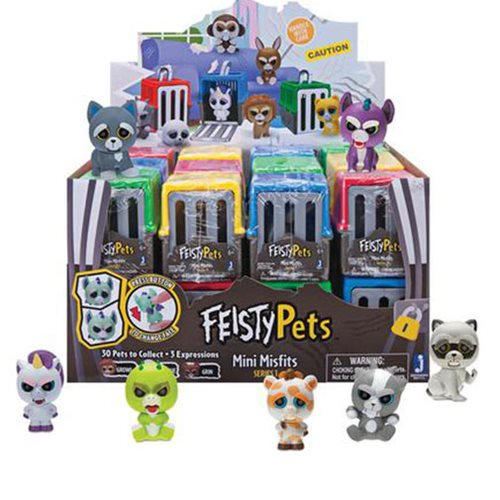 Feisty Pets Mini Misfits Figures Blind Pack 24-Pack Display Tray