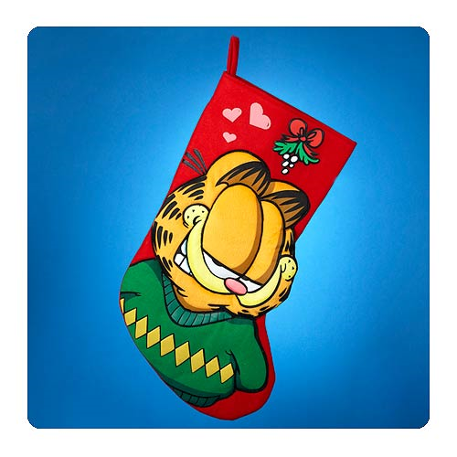 Garfield 19-Inch Mistletoe Applique Stocking