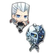 JoJo's Bizarre Adventure: Stardust Crusaders Polnareff and Silver Chariot Pin Set