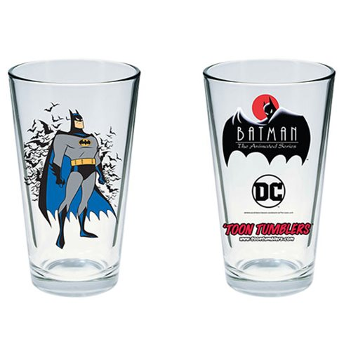 Batman: The Animated Series Batman Toon Tumbler Pint Glass