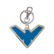 Batman Nightwing Emblem Colored Pewter Key Chain