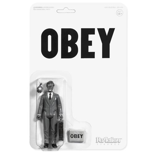 They Live Male Ghoul Black and White 3 3/4-Inch ReAction Figure