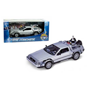 Back to the Future 2 DeLorean 1981 Time Machine Die-Cast Metal 1:24 Scale Vehicle