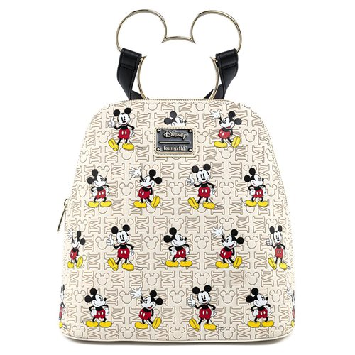 Disney Mickey Mouse Poses with Mickey Head Hardware Backpack