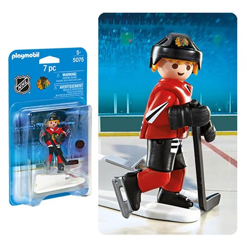 Playmobil 5075 NHL Chicago Blackhawks Player Action Figure