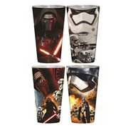 Star Wars: Episode VII - The Force Awakens Villain Poster Clear Full Wrap Pint Glass 4-Pack