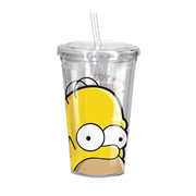 The Simpsons Homer Head 16 oz. Acrylic Travel Cup