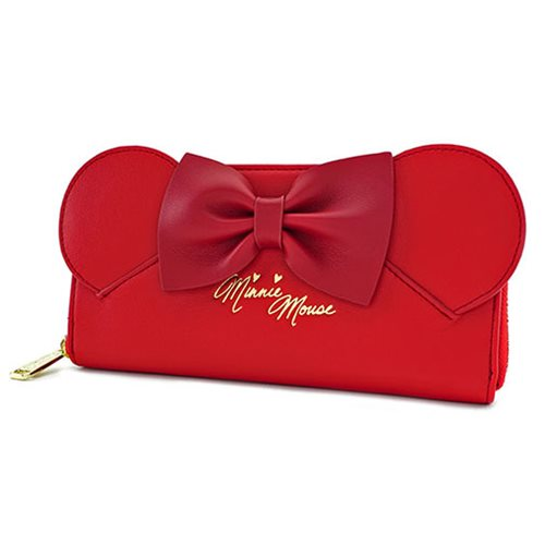 Minnie Mouse Red Ears Zip-Around Wallet