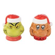 Grinch and Max Sculpted Ceramic Salt and Pepper Set