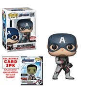 Avengers: Endgame Captain America Pop! Vinyl Figure with Collector Cards - Entertainment Earth Exclusive