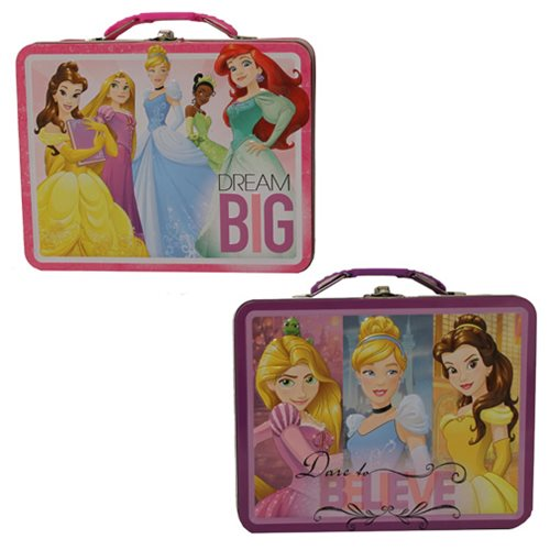 Disney Princesses Large Carry All Embossed Tin Tote Set