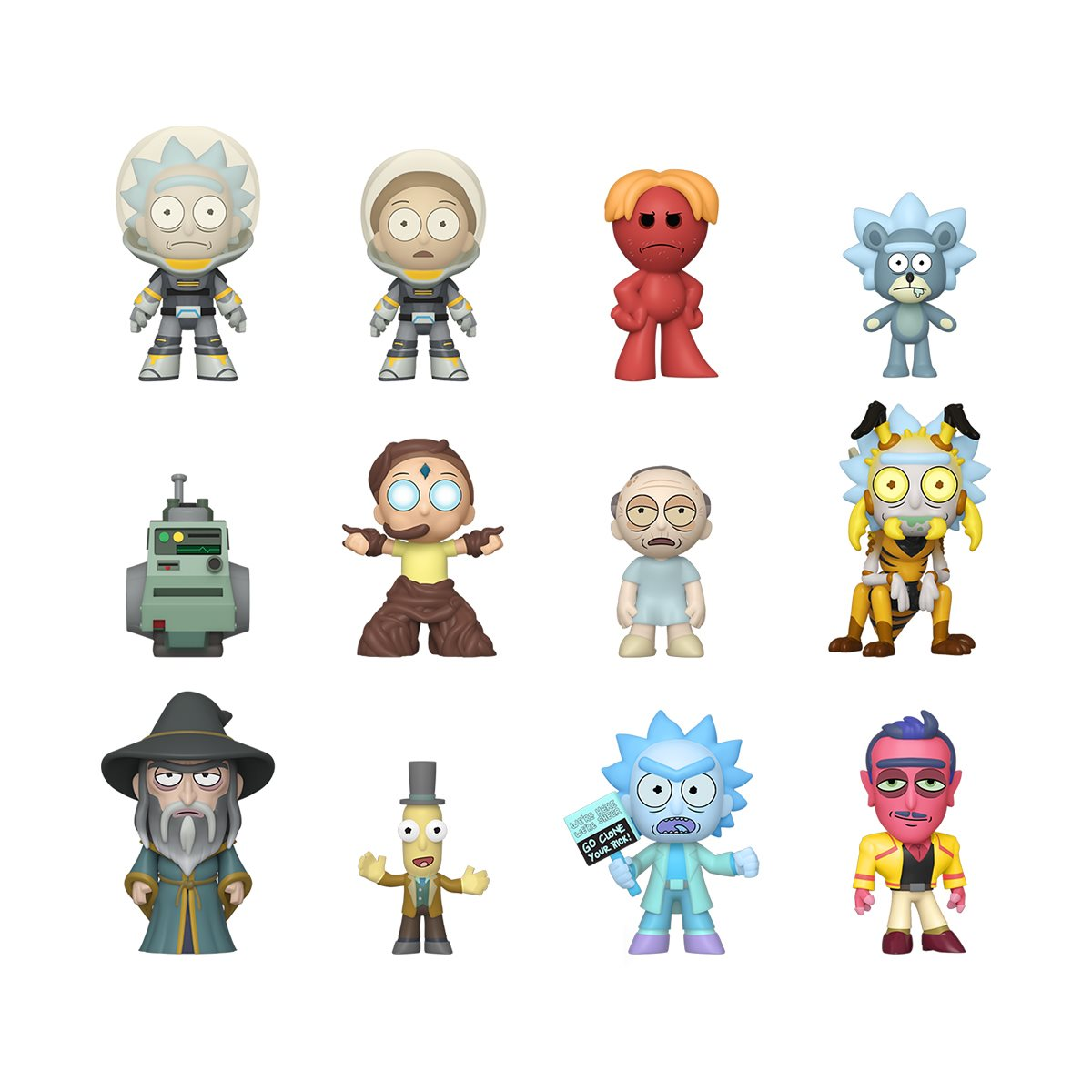 Pack of 2 Funko Rick and Morty Mystery Mini Blind Box Figure Series 2 NEW