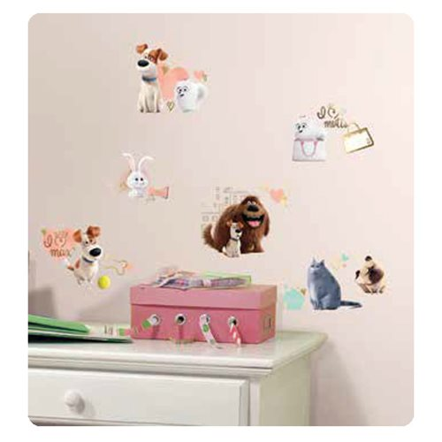 The Secret Life of Pets Girls Peel and Stick Wall Decals