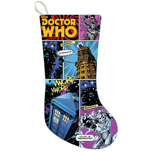 Doctor Who Comic Strip 19-Inch Print Stocking