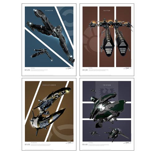 EVE Online Battlecruisers Art Print 4-Pack Set 2: Frigates
