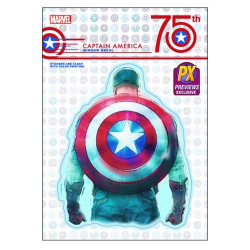 Captain America 75th Anniversary Decal - Previews Exclusive