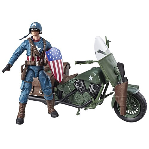 Marvel Legends Ultimate Captain America 6-Inch Action Figure with Motorcycle, Not Mint
