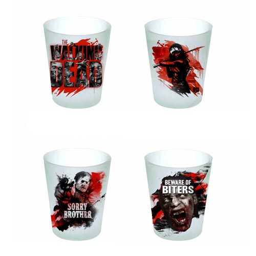 The Walking Dead Shot Glass 4-Pack