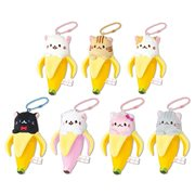 Bananya 4 1/2-Inch Plush Dangler Key Chain Display Case