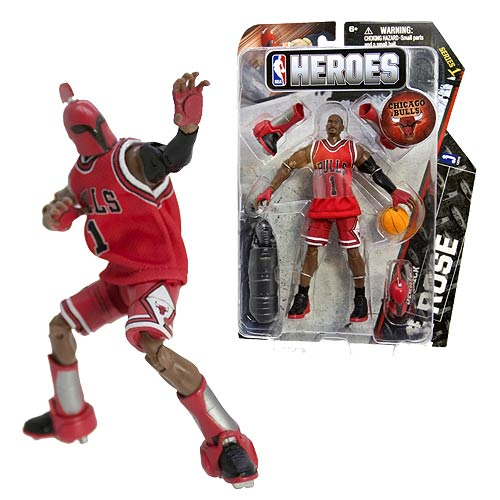 NBA Heroes Derrick Rose Eastern Conference 6-Inch Action Figure, Not Mint