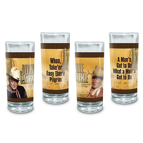 John Wayne Glasses 4-Pack