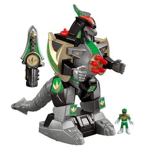 Mighty Morphin Power Ranger Imaginext Green Ranger and Dragonzord Remote Control Figure
