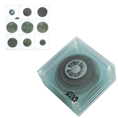 Star Wars 3D Death Star Glass Coaster 9-Pack Set