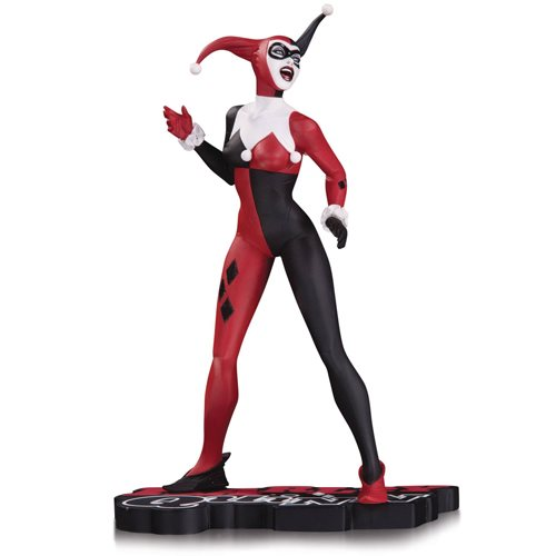 Harley Quinn Red Black and White Statue By Jae Lee