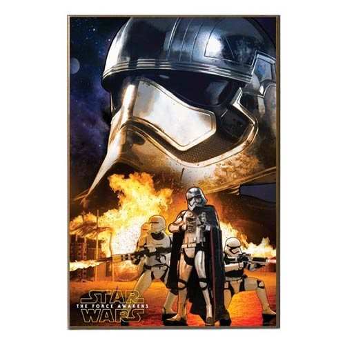 Star Wars: Episode VII - The Force Awakens Captain Phasma and Flametroopers Wood Wall Art