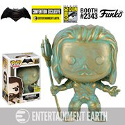 Batman v Superman: Dawn of Justice Aquaman Patina Pop! Vinyl Figure - Entertainment Earth Convention Exclusive