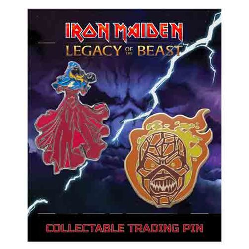 Iron Maiden Legacy of the Beast Set 3 Clairvoyant and Wicker Man Lapel Pin 2-Pack