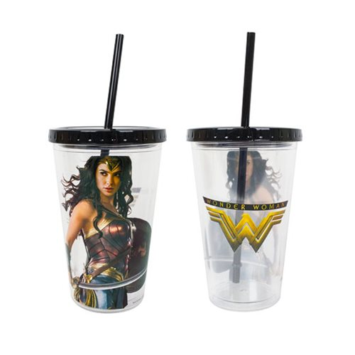 Wonder Woman Movie 16 oz. Acrylic Travel Cup with Straw