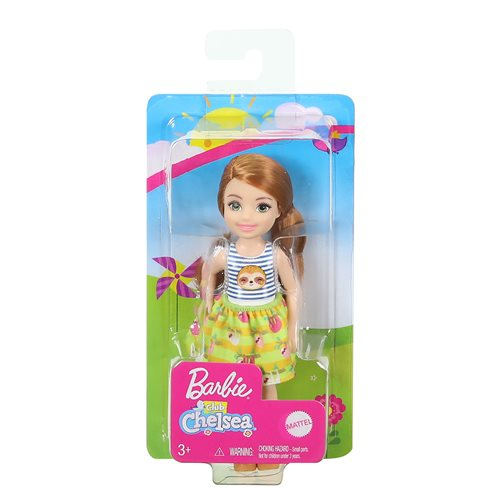Barbie Club Chelsea Doll with Sloth Dress